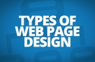 Types of web page design